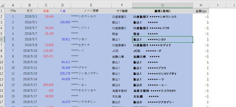 エクセル無料テンプレート UFJ通帳データを一瞬で弥生会計仕訳データにする方法